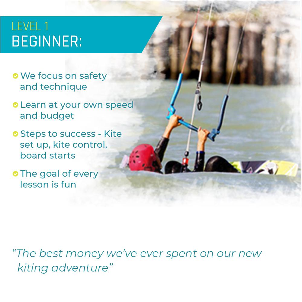 Beginners Kiteboarding Lessons